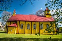 Église en bois en Lithuanie Photo libre de droits