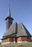 Église en bois par derrière photographie stock