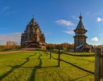 Église en bois reconstituée images libres de droits