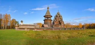 Église en bois reconstituée images stock