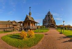 Église en bois reconstituée photo stock