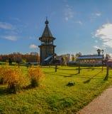 Église en bois reconstituée photographie stock libre de droits