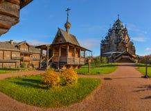 Église en bois reconstituée photos libres de droits