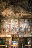 Église en bois traditionnelle dans la région de Maramures, Roumanie image stock