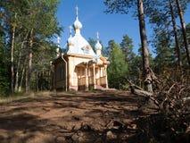 Église en bois Vallam Images libres de droits