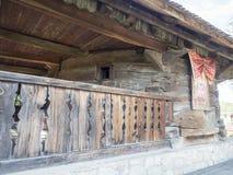 Église en bois, village de Jercălăi, le comté de Prahova Images stock
