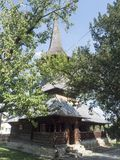 Église en bois, village de Jercălăi, le comté de Prahova Photos stock