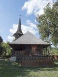Église en bois, village de Jercălăi, le comté de Prahova Image stock