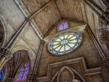 Église en colline de Bana chez le Vietnam Images stock