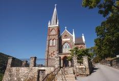 Église en pierre historique la Virginie Occidentale de ferry de harpistes Images libres de droits