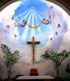 Église en travers de conception immaculée d'anges Photo stock