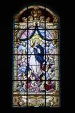 Église en verre souillé Photographie stock libre de droits