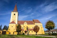 Église enrichie de Sura Mare, la Transylvanie photographie stock libre de droits