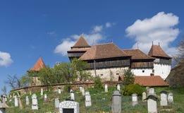 Église enrichie de Viscri, la Transylvanie, photo stock