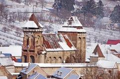 Église enrichie en Transylvanie Roumanie photo stock