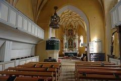 Église enrichie, la Transylvanie, Roumanie Images stock