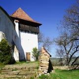 Église enrichie par Viscri de Transilvania 1000 années image stock