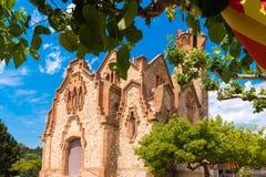 Église Ermita Mare de Deu de la Riera en Les Borges del Camp, Tarragone, Catalunya, Espagne Plan rapproché images libres de droits