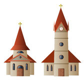 Église et chapelle illustration stock