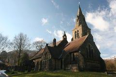 Église et nuages Image libre de droits