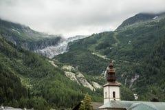 Église et plus vitreux Photographie stock