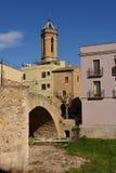 Église et pont, d'Empordà de Bisbal de La, Photo stock