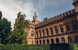Église et université antiques dans la ville de Chernivtsi, Ukraine Image libre de droits