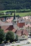 Église et vieille ville Images stock