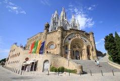 Église expiatoire du coeur sacré de Jésus, Barcelone, Espagne Images libres de droits
