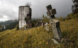 Église frappée Image stock