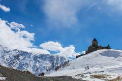 église géorgienne et ciel bleu Photographie stock