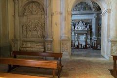 Église gothique à Naples Photographie stock libre de droits
