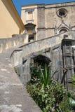 Église gothique à Naples Images libres de droits