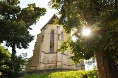 Église gothique dans Sighisoara Photographie stock