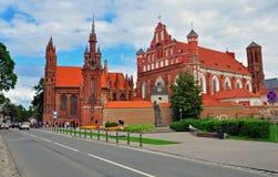 Église gothique de Vinlius Photos stock