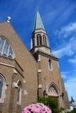 Église gothique en Bellingham, WA sur Sunny Day Photo libre de droits