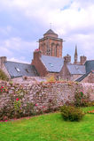 Église gothique en français la Bretagne Image libre de droits