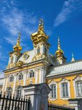 Église grande de palais du ` s de Peterhof Image stock