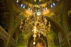Église grecque, à l'intérieur Images libres de droits