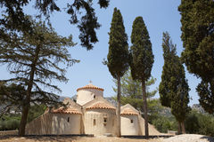 Église grecque de Panagia Kera crète La Grèce Photographie stock libre de droits