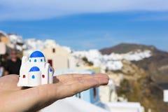 Église grecque traditionnelle miniature images libres de droits