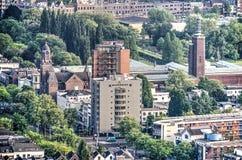 Église, hôtel, musée et parc Image libre de droits