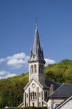 Église historique dans la campagne française Photographie stock