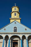 Église historique de Conchi sur l'île de Chiloé Photographie stock
