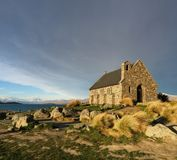 Église historique du bon berger, lac Tekapo, Nouvelle-Zélande image stock