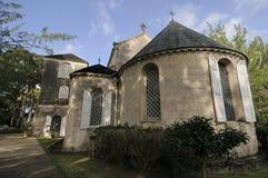Église historique sur une île Images stock