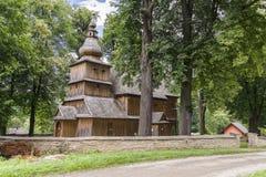 Église historique, village Przydonica, Pologne Photo stock