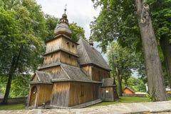 Église historique, village Przydonica, Pologne Photographie stock