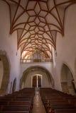 Église intérieure de Prejmer Photographie stock libre de droits