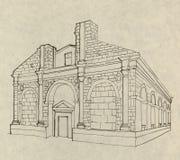 Église italienne à Rimini Images libres de droits